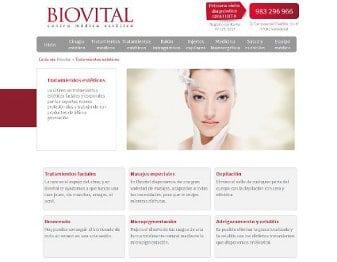 Diseño web para Biovital