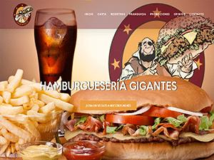 Diseño de página web para Hamburguesería Gigantes