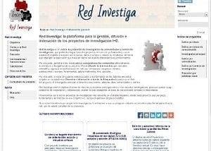 Desarrollo web para Red Investiga