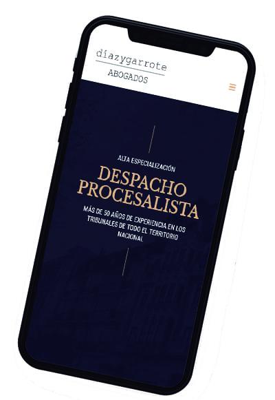 Responsive móvil para la web corporativa Díaz y garrote
