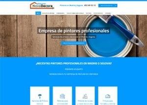 Captura de pantalla de página inicio novadecora