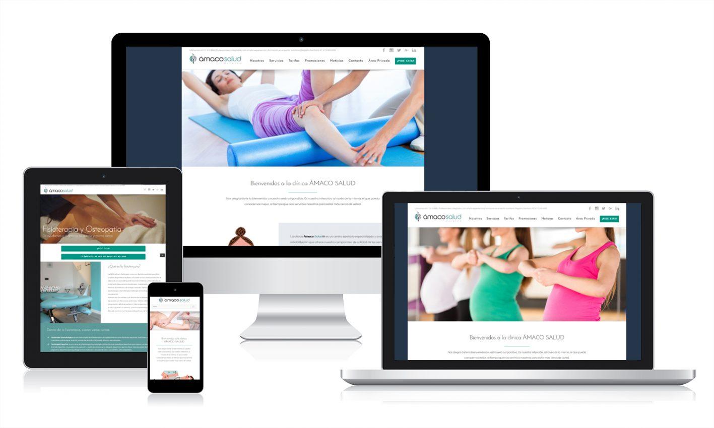 Diseño web responsive de Clínica Ámaco -_Salud