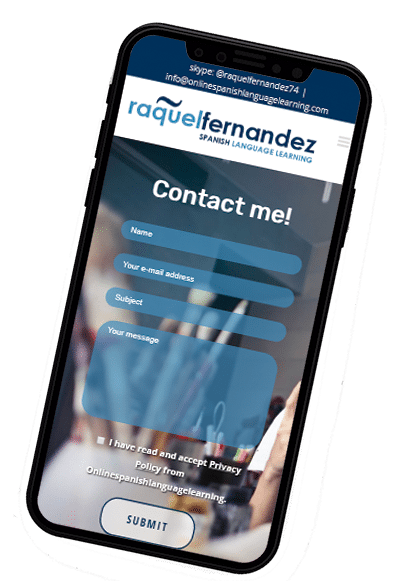 Diseño web responsive de iphone X de wordpress spanishlanguagelearning