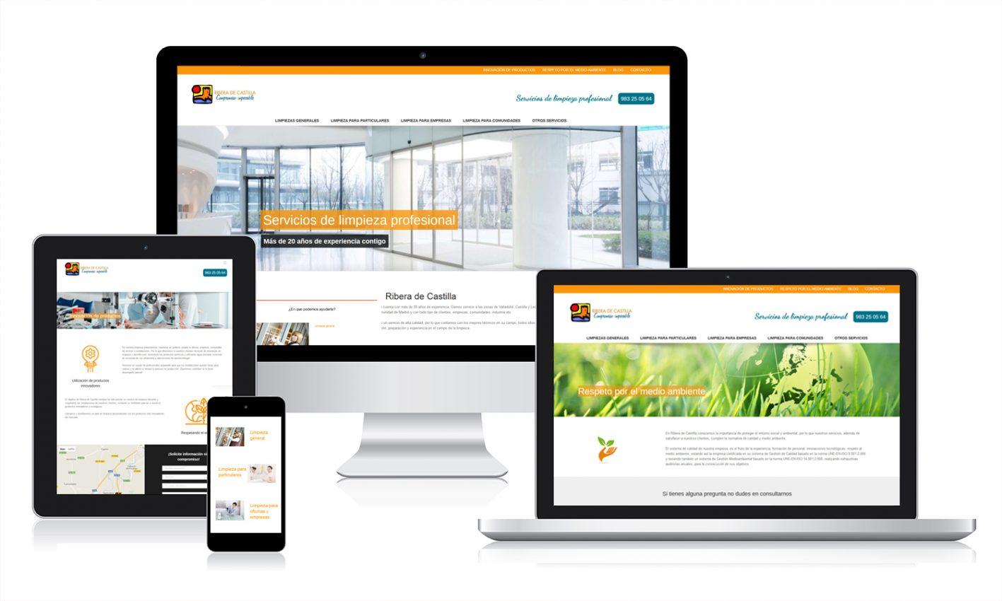 Diseño responsive de web corporativa Ribera de Castilla