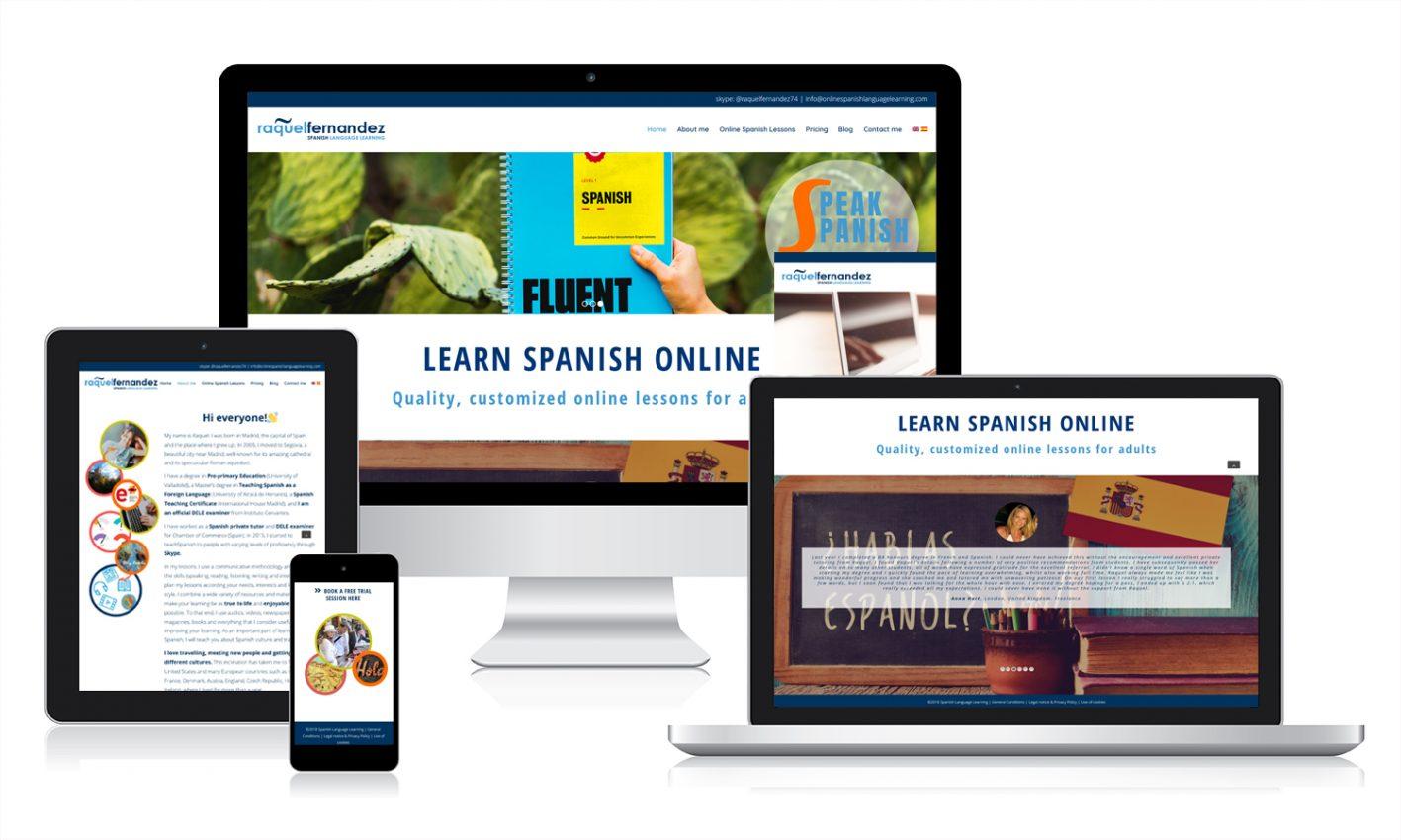 Diseño web responsive en Valladolid para enseñanza de idiomas