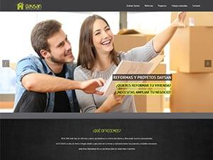 Captura de pantalla inicio Daysan Reformas y proyectos