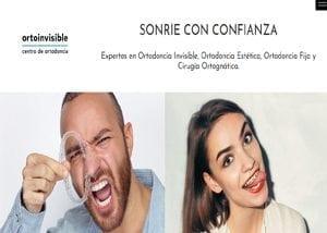 Portada de pagina web de clinica dental Ortoinvisible
