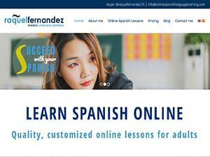 Captura de página web de Onlinespanishlanguage