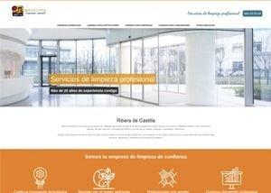 Imagen de la web corporativa Ribera de Castilla limpiezas