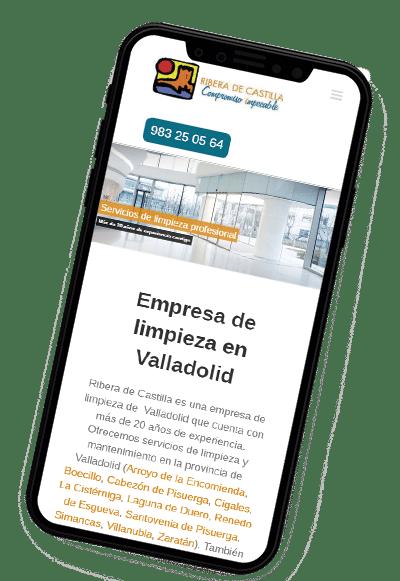 Diseño responsive dispositivos móviles para Ribera de Castilla