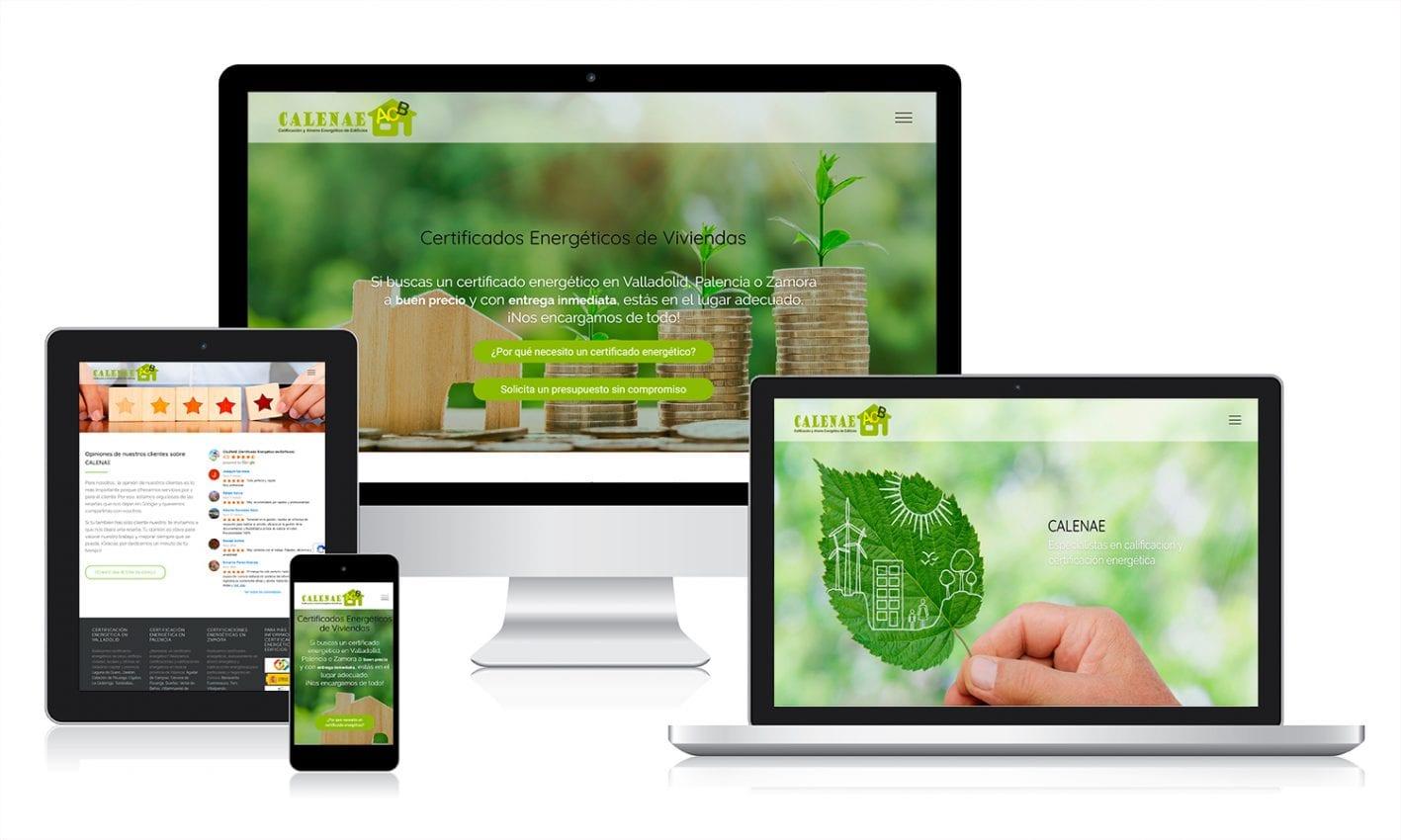 Página web implementada con WordPress