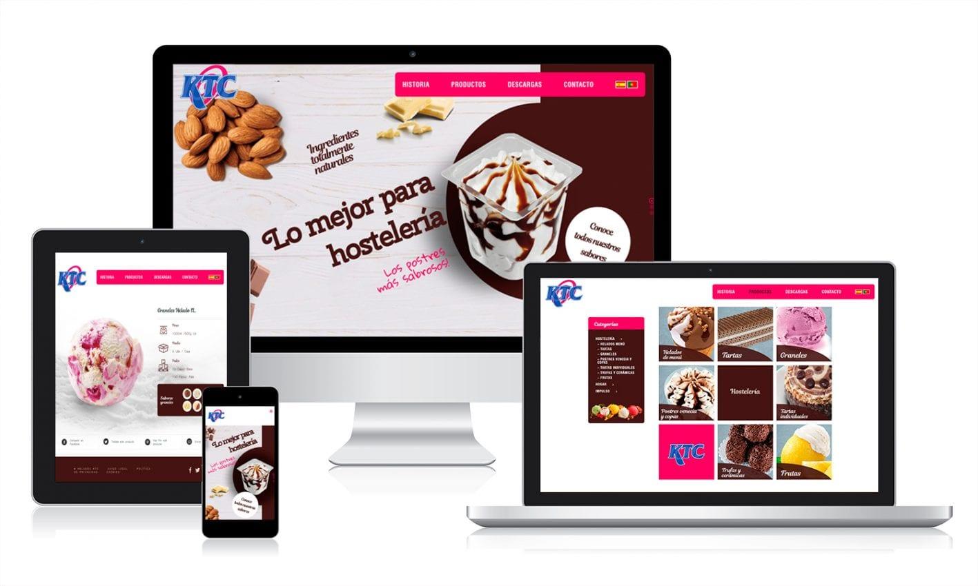 Desarrollo web en WordPress para un fabricante y distribuidor de helados