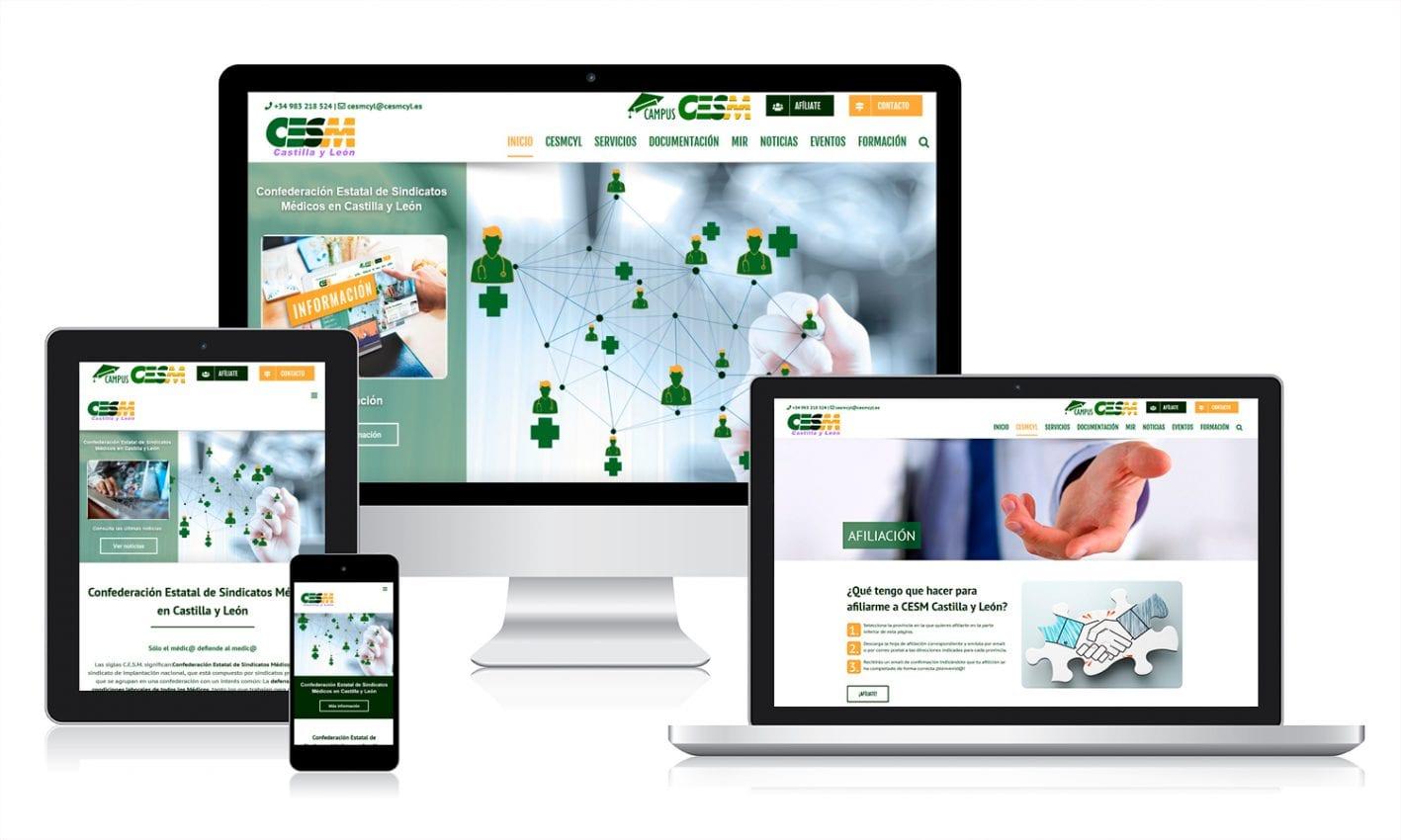 Desarrollo web en WordPress para Sindicato Médico CYL