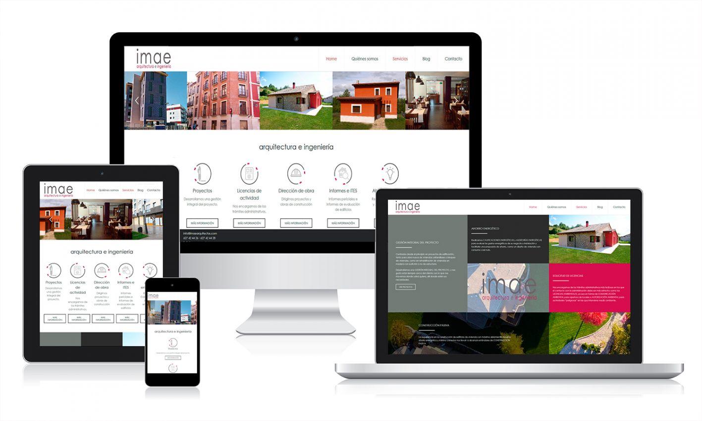 Desarrollo web para IMAE Arquitectos por Tictac